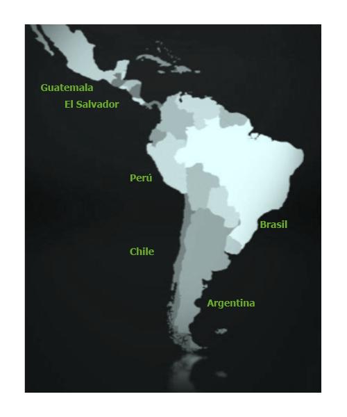 Mapa Países ConectaDEL