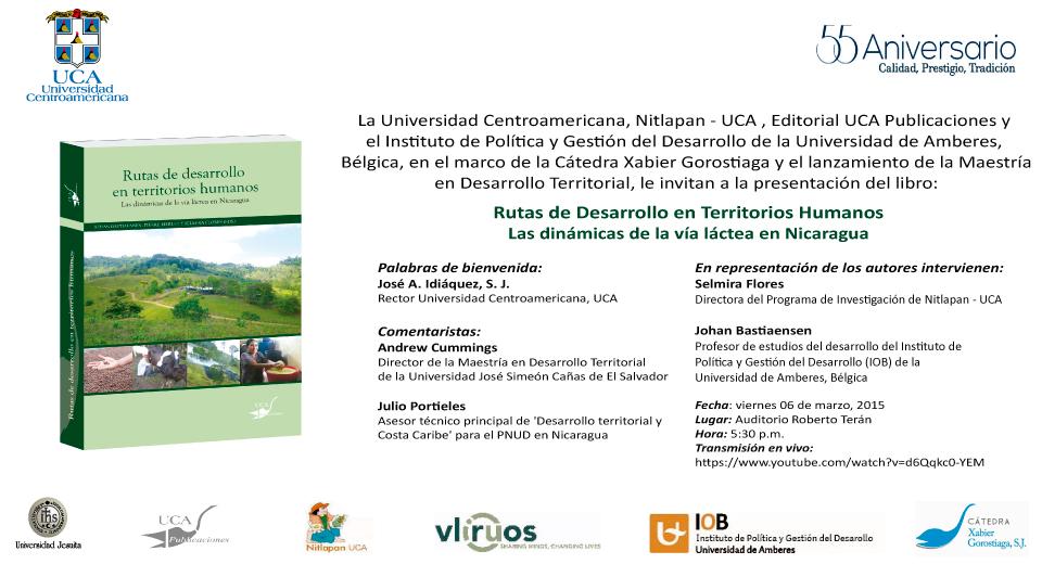 Invitacion Presentacion Libro - Rutas de Desarrollo