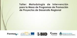 Metodología de intervención para la Mesa de Programas de Promoción de Proyectos de Desarrollo Regional