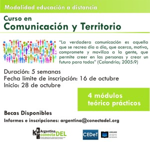 flyer curso virtual comunicación y territorio