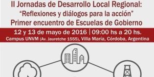 II Jornadas de Desarrollo Local Regional. Villa María, Córdoba.