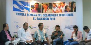 Concertación y coordinación de esfuerzos en la Semana del Desarrollo Territorial – El Salvador