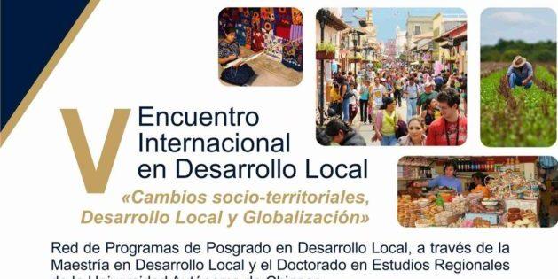 Convocan a V Encuentro Internacional de Desarrollo Local -México