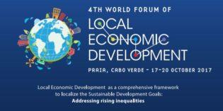 IV Foro Mundial de Desarrollo Económico Local se llevará a cabo en Praia, Cabo Verde, desde 17 al 20 octubre, 2017