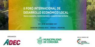 II Foro Internacional de Desarrollo Económico Local.