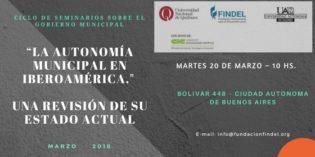"""La Autonomía Municipal en Iberoamérica. Seminario Internacional"
