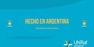 Hecho en Argentina. Universidad Nacional de Rafaela