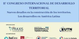 II Congreso Internacional de Desarrollo Territorial en Rafaela, 1era circular
