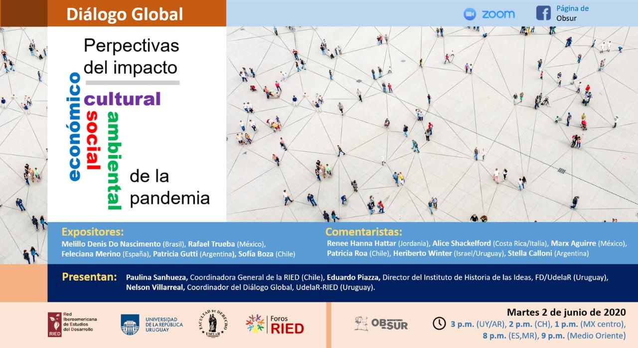 Diálogo Global: Perspectivas del impacto socio/económico/cultural/ambiental de la pandemia