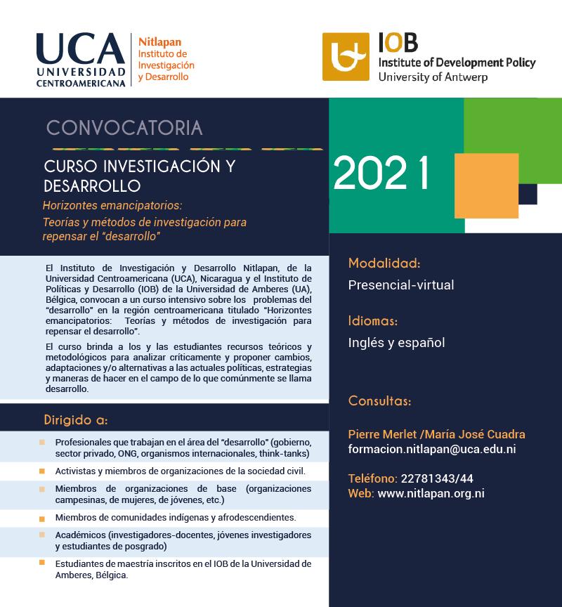 """Convocatoria: Curso Horizontes emancipatorios:Teorías y métodos de investigación para repensar el """"desarrollo"""""""